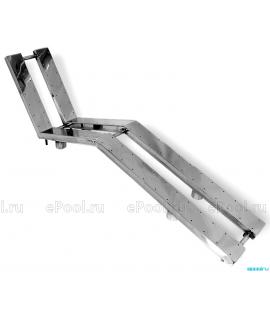 Лежак аэромассажный из нерж. стали (плитка двойной)