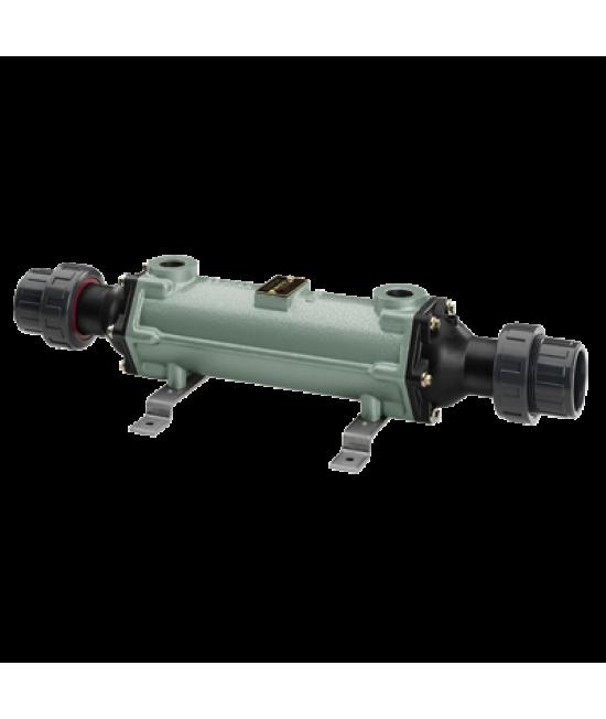 """Теплообменник трубчатый 25 кВт (при t=82°С), нерж. сталь, вых.: 50мм/ 3/4"""" внутр.р"""