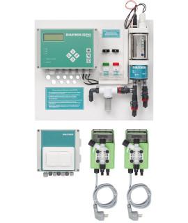Автоматическая станция Дарин Кристалл М Свободный хлор, рН с мембранными насосами
