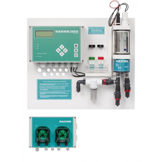 Автоматическая станция Дарин Кристалл П Свободный хлор, рН c перистальтическими насосами