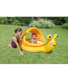 """Детский надувной бассейн """"Ленивые улитки"""" 145x102x74см с навесом от 2 лет (INTEX)"""