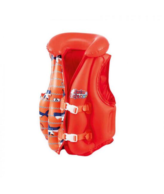 Жилет для плавания Bestway 32156 красный (51x46 см)