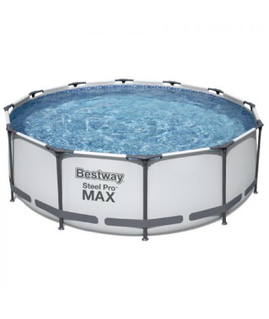 Каркасный круглый бассейн Bestway 56418 (366х100) с картриджным фильтром