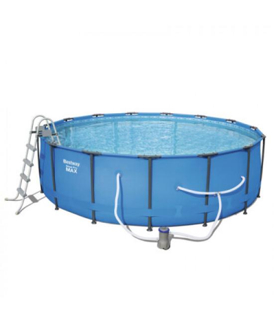 Каркасный круглый бассейн Bestway 56462 (549х122) с картриджным фильтром