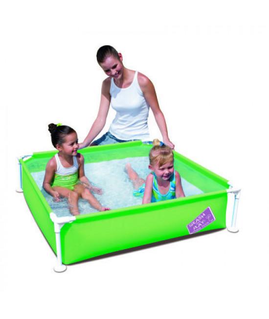 Детский каркасный бассейн Bestway 56217 (122х122х30,5) Green