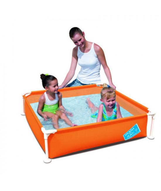 Детский каркасный бассейн Bestway 56217 (122х122х30,5) Orange