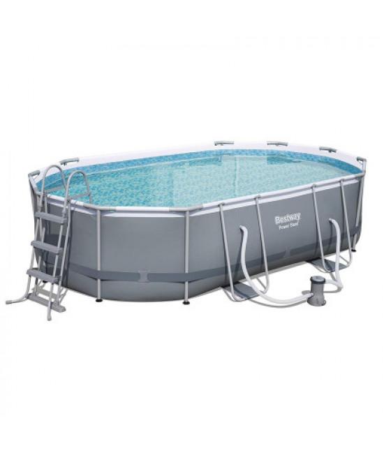 Каркасный бассейн Bestway 56448 Power Steel (488х305х107 см) с картриджным фильтром