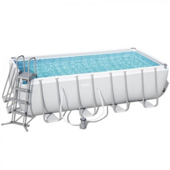 Каркасный бассейн Bestway 56670 (488х244х122) с картриджным фильтром