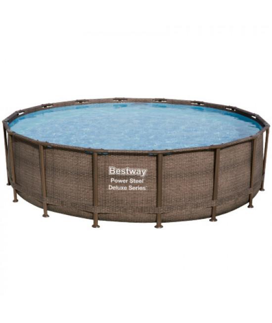 Каркасный бассейн Bestway Ротанг 56666 (488х122) с картриджным фильтром