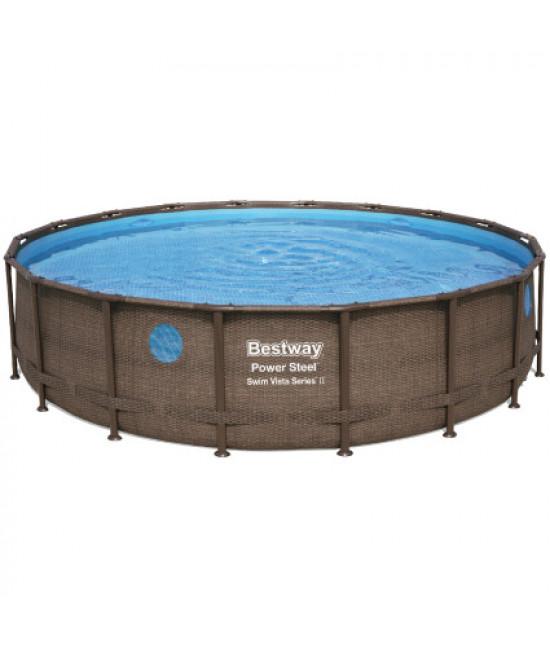 Каркасный бассейн Bestway Ротанг 56977 (549х122) с картриджным фильтром