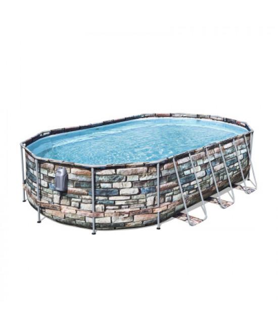 Каркасный бассейн Bestway 56719 (610х366х122) с картриджным фильтром