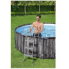 Каркасный бассейн Bestway Wood Style 5614Z (427х107) с картриджным фильтром