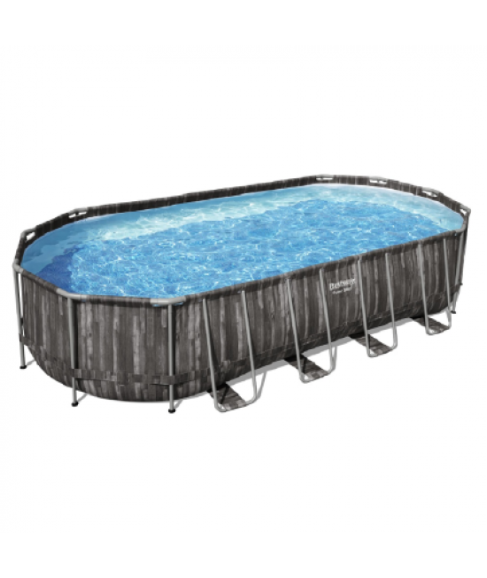 Каркасный бассейн Bestway Wood style 5611T (732х366х122) с картриджным фильтром