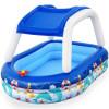 Детский надувной бассейн Bestway 54370 (213х155х132 см) с навесом от солнца