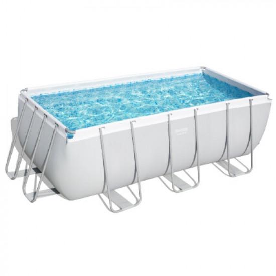 Каркасный прямоугольный бассейн Bestway 56456 (412х201х122 см) с картриджным фильтром и лестницей