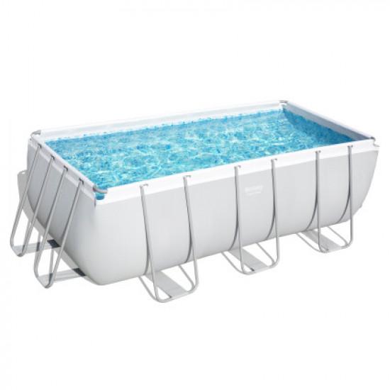 Каркасный прямоугольный бассейн Bestway 56457 (412х201х122 см) с песочным фильтром и лестницей