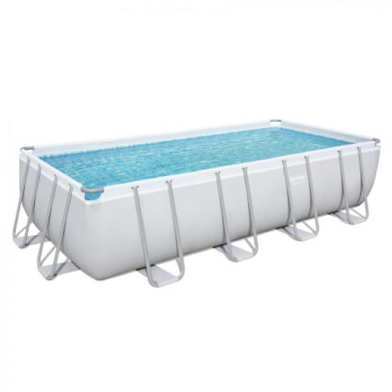 Каркасный прямоугольный бассейн Bestway 56475 (732х366х132 см) с песочным фильтром, лестницей и тентом