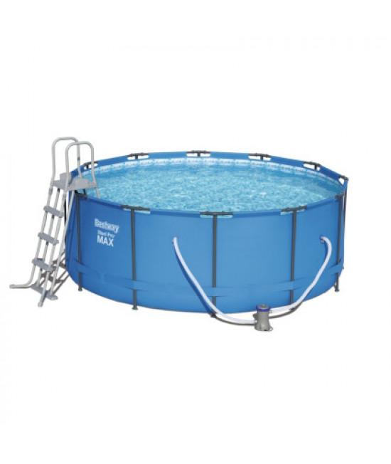 Каркасный бассейн Bestway 15427 (366х133 см) с картриджным фильтром и лестницей