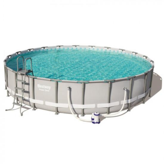 Каркасный бассейн Bestway 56675 (610х122) с картриджным фильтром, лестницей и тентом