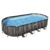 Каркасный бассейн Bestway Wood Style 5611T (732х366х122 см) с картриджным фильтром, лестницей и тентом