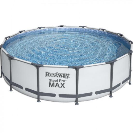 КаркасныйбассейнBestway56950(427х107 см) с картриджным фильтром, тентом и лестницей
