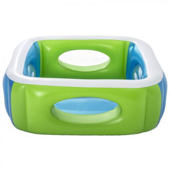 Детский надувной бассейн Bestway 51132 (168x168x56 см) с окошками