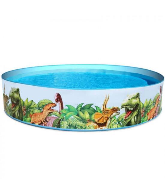 Детский каркасный бассейн Bestway 55001 Fill 'N Fun Dinosaur (244х46 см)