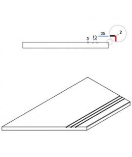 Бортовая прямая плитка Italon Гриджио Оробико противоскользящая 300х600 мм, с рукохватом (левая)