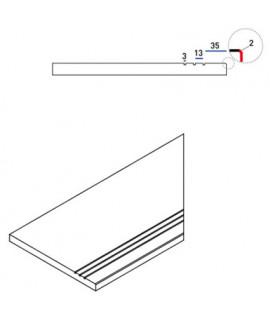 Бортовая прямая плитка Italon Гриджио Оробико противоскользящая 300х600 мм, с рукохватом (правая)