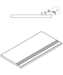 Бортовая прямая плитка Italon Клаймб Рок противоскользящая 300х600 мм, с рукохватом