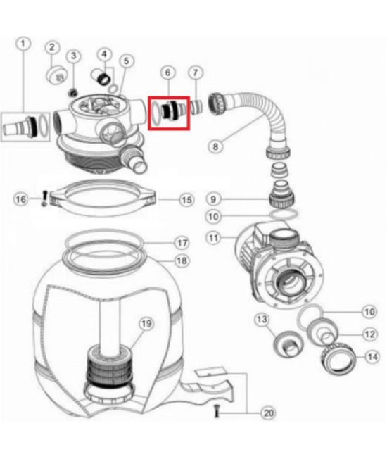 Адаптер AquaViva для FSP с уплотнительным кольцом (89030204)
