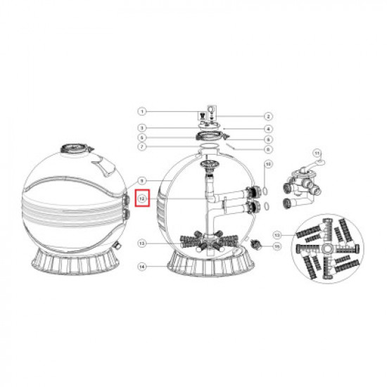 Диффузор для фильтра Aquaviva MFS35 (89012619)