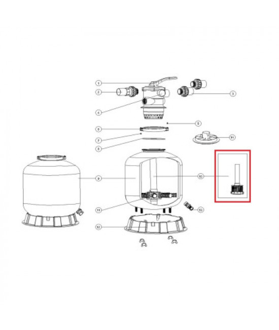 Дюзовая коробка 89011603 в комплекте с трубой для Aquaviva P400