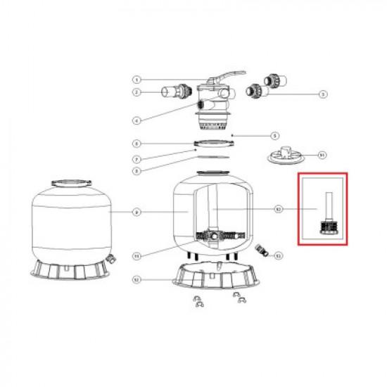 Дюзовая коробка 89011606 в комплекте с трубой для Aquaviva P650