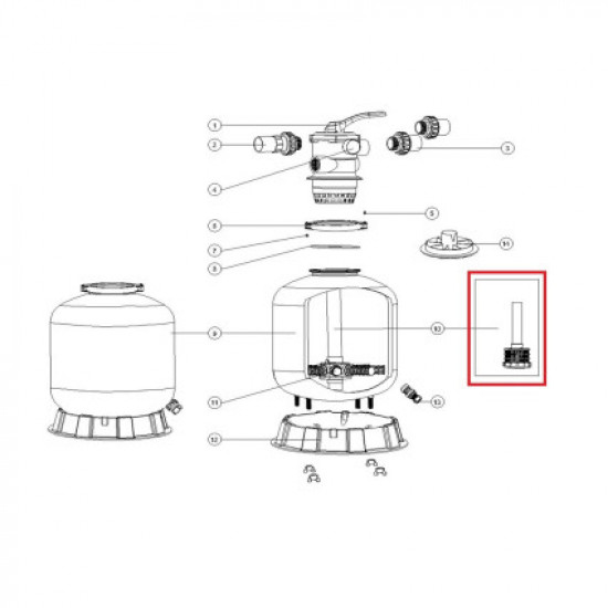 Дюзовая коробка 89011607 в комплекте с трубой для Aquaviva P700
