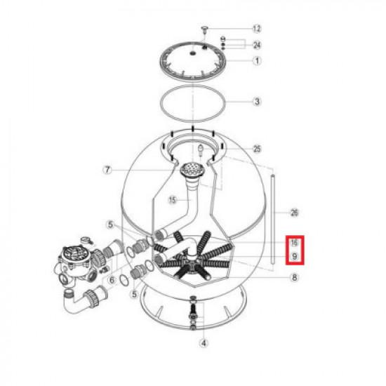 Коллектор с коленом Hayward S360SLE (RRFI0016.04R\RFD0310.72R)