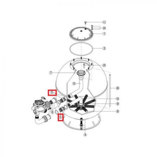 Комплект соединительных муфт для фильтров Fiberpool серии FB (RRFI0005.03R)