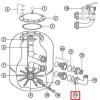 Гайка муфты Hayward (диаметр 500-600) для фильтра NC (NCX2312058)