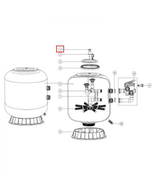Болты крепления крышки фильтров Aquaviva L1200-1800
