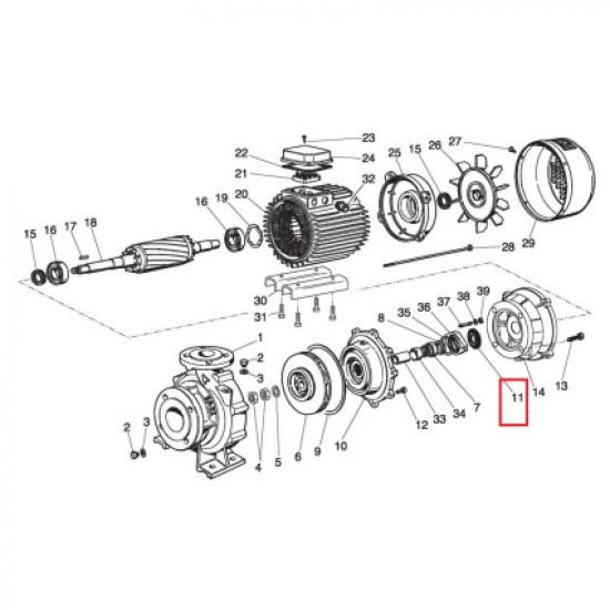 Капельный лоток для насосов Saer IR4P Cast iron (54300161)