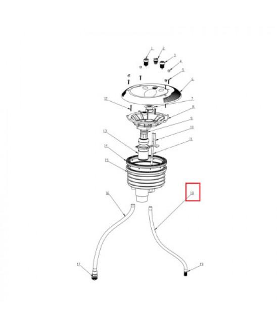Выпускной шланг Aquaviva 01151380 для закладной противотока EM0055