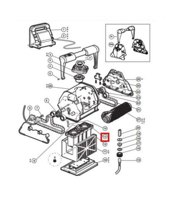 Блок мотора пылесоса Hayward QC RCX43000