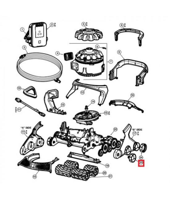Комплект колес для робота-пылесоса Hayward AquaVac 600/650 (RCX36140311234)