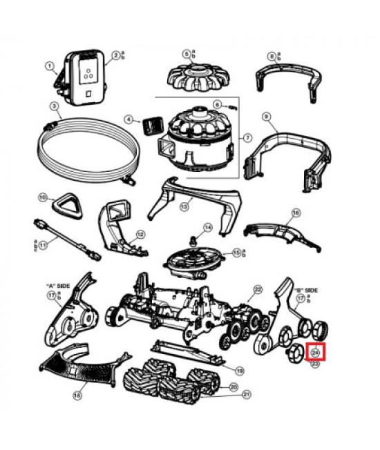 Комплект протекторов для колес робота-пылесоса Hayward AquaVac 600/650. (RCX361404234PK6)