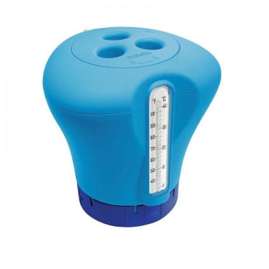 Дозатор Kokido K619BU (табл. 75 мм) синий с термометром