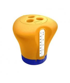 Дозатор Kokido K619BU (табл. 75 мм) оранжевый с термометром