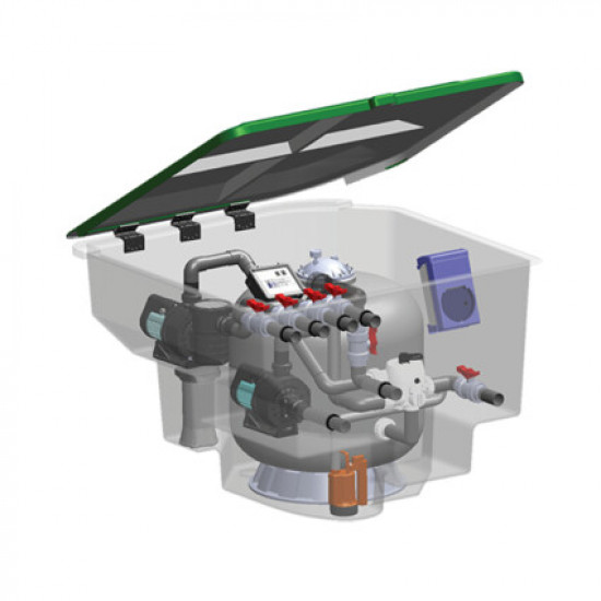 Комплексная фильтрационная установка AquaViva EMD-18S (18м3/ч)