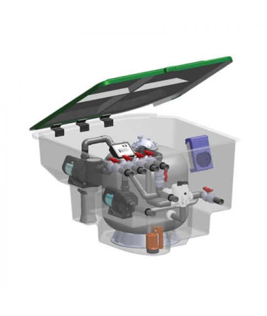 Комплексная фильтрационная установка AquaViva EMD-18SPL (18м3/ч)