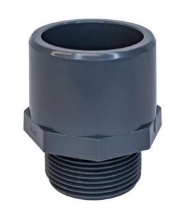 Адаптер двойной Aquaviva с наружной резьбой (муфтовое/втулочное окончание), d63x75x2
