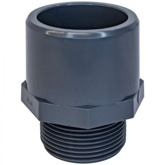Адаптер двойной Aquaviva с наружной резьбой (муфтовое/втулочное окончание), d75x90x3